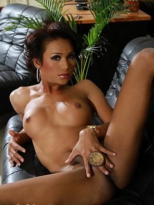 Exotic t-girl Sonya stripping
